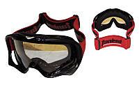 Мотоочки, окуляри для мотоспорту  Tanked - прозора лінза (чорний, синій, червоний)