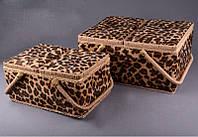 "Набор шкатулок для рукоделия ""Леопард"""