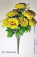 Роза раскрытая Чайная 9 голов