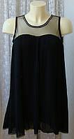 Платье женское коктейльное черное плиссированное мини Miss83 р.44 6179