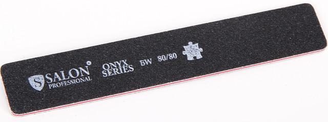 Черная пилочка форма прямоугольная 80/80 ONYX Series SALON CVL 80/80 /05-4