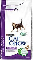 Cat Chow (Кэт Чау) Hairball Control Корм для кошек (против образования волосяных комочков) 1,5 кг