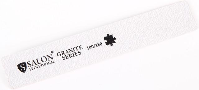Серая пилочка форма прямоугольная 100/180 GRANITE Series SALON CVL -100/180 /05-4