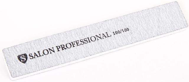 Серая пилочка форма прямоугольная 100/100 SALON PROFESSIONAL CVL -100/100 /05-4