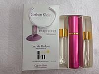 Подарочный парфюмерный набор с феромонами женский Calvin Klein Euphoria Blossom (Эйфория Блоссом) 3x15 мл