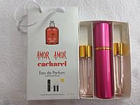 Подарочный парфюмерный набор с феромонами женский Cacharel Amor Amor (Кашарель Амор Амор) 3x15 мл