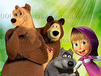 Друк їстівного фото - Формат А4 - Маша і Ведмідь №11 - Вафельна папір