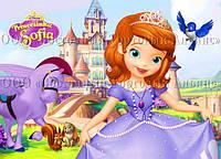 Печать съедобного фото - Формат А4 - Принцесса София №1 - Вафельная бумага