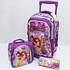 "Набор чемодан - рюкзак детский на колесах + сумка + пенал ""Princess"" 520241"