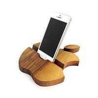 Подставка из дерева Apple для смартфонов и планшетов