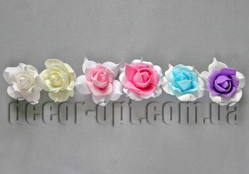Голова розы из латекса 7-8 см/1 шт 005А