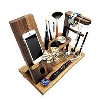 Органайзер из дерева Для нее для мелких вещей, аксессуаров и смартфона