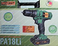 Шуруповерт аккумуляторный Procraft (18 В литиевый), фото 1