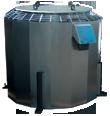 Вентиляторы крышные общепромышленные с выходом потока вверх КРОВ9-12,5-Н-У1-0-22х750-220/380