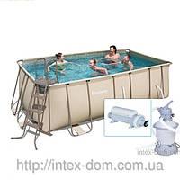 Каркасный бассейн, 201 см х 412 см х 122 см, Bestway 56241 +Насос-фильтр58400+ Хлоринатор Bestway 58284