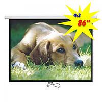 """Экран для проектора 86""""(172х130см) LOGAN PRM2"""