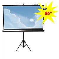 """Экран для проектора 86""""(172х130см) LOGAN PRT1"""