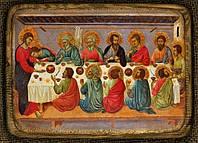 Деревянная икона Тайная вечеря XIV век средняя