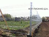 Панельні системи огорож, секції огородження, панельні огорожі, огорожі, фото 1