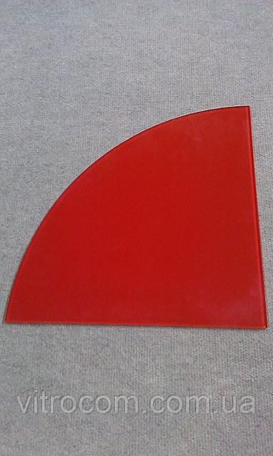 Полка стеклянная угловая 6 мм крашенная 30 х 30 см