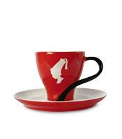 Чашка Эспрессо с блюдцем Julius Meinl, итальянский фарфор, 75 мл