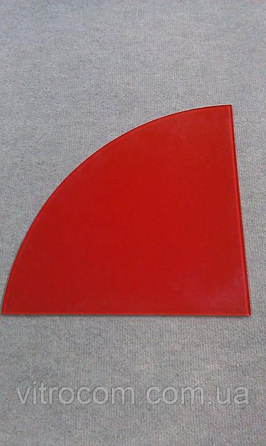 Полка стеклянная угловая 6 мм красная 25 х 25 см