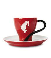 Чашка Меланж с блюдцем Julius Meinl, итальянский фарфор, 120 мл
