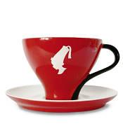 Чашка Джамбо с блюдцем Julius Meinl, итальянский фарфор, 250 мл