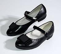 Чёрные туфли на девочку. 29-36-й. Распродажа остатков!