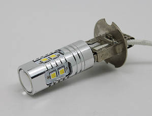Светодиодная автолампа H3, 10W (350Lm) WARM WHITE 3300k Original Samsung LED chip (SMD2323) + Линз