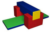 Модульный комплекс «Спорт-2»     брус (120х30х30) см – 1,  ворота (60х60х30) см – 2,  ИМ-12.77
