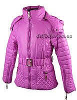 Куртка для девочек  демисизонная 5-9 лет цвет сиреневый