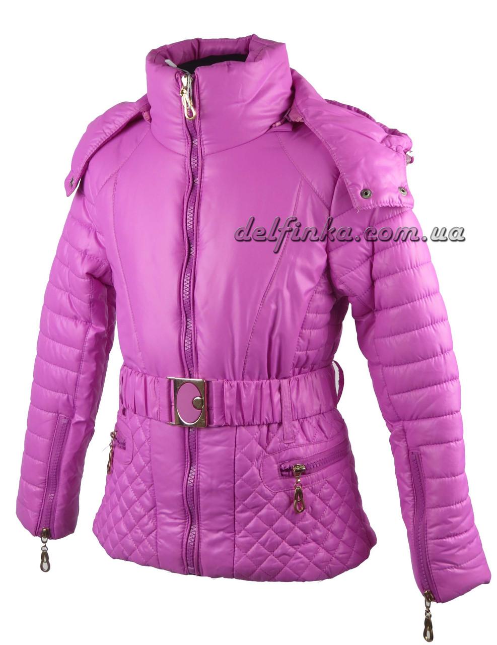 Куртка для девочек  демисизонная 5-9 лет цвет сиреневый, фото 1