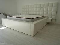 Кровать двуспальная кожаная Медина, фото 1