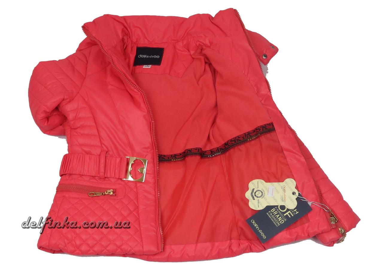 Куртка для девочек  демисезонная 5-9 лет цвет коралловый, фото 2