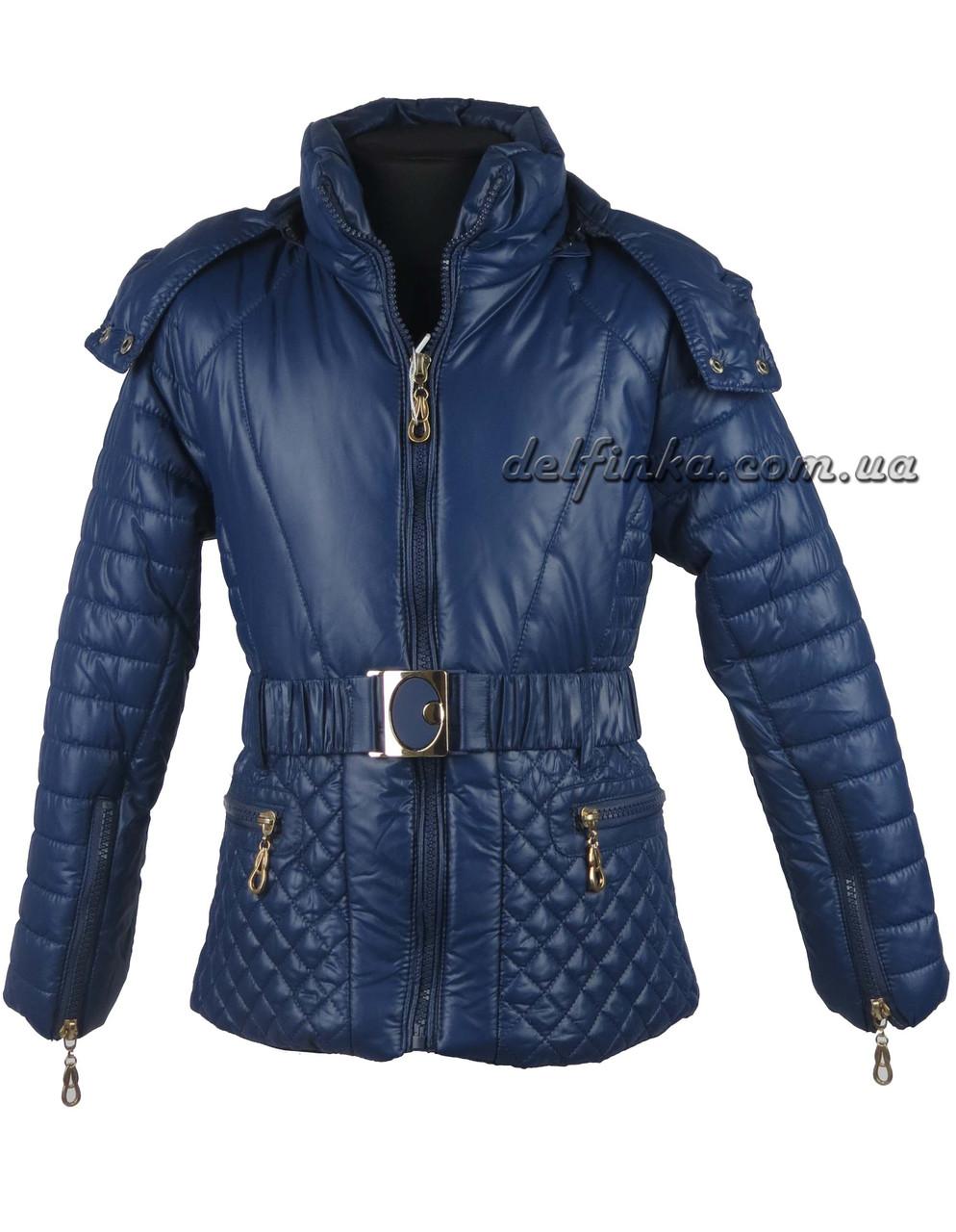 Куртка для девочек  демисизонная 5-9 лет цвет синий, фото 1