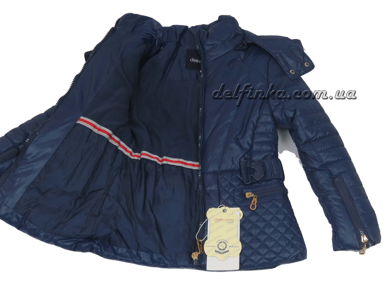 Куртка для девочек  демисизонная 5-9 лет цвет синий, фото 2