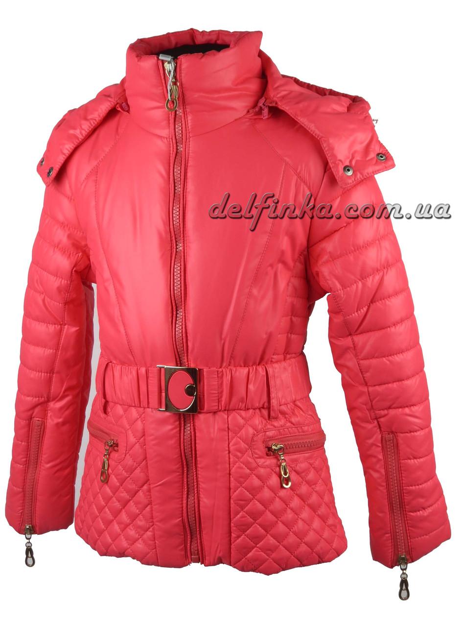 Куртка для девочек  демисизонная 5-9 лет цвет синий, фото 3