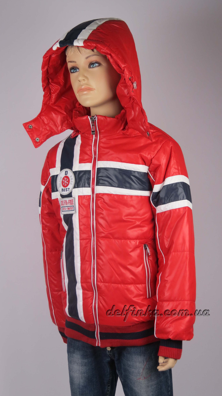 Куртка для мальчика  демисизонная 7-12 лет цвет красный, фото 2