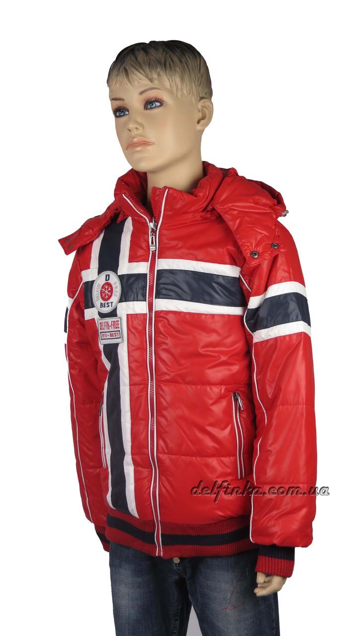 Куртка для мальчика  демисизонная 7-12 лет цвет красный, фото 3