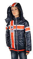 Демисезонная куртка для мальчиков, теплая,размеры с 116-140, цвет синий