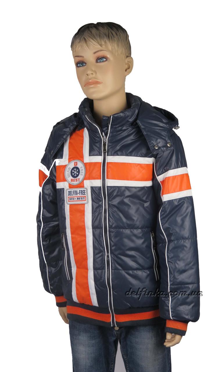 Куртка для мальчика  демисизонная 7-12 лет цвет синий, фото 2