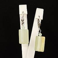 Серьги из оникса, кирпичик, фото 1