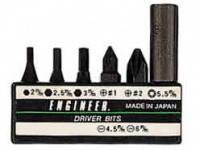 Набор наконечников  ENGINEER  DR-14 (7 шт с жёстким удлиннителем для отвёртки DR-04)