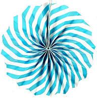 Веер  голубая спираль 30см