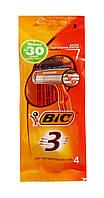 Одноразовые 3 лезвийные бритвенные станки BIC-3 Sensitive - 4 шт.