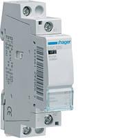 Контактор стандарт Hager ESC125-25A, 1НВ, 230В, 1м