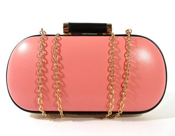 Клатч-бокс сумочка женская розовая 975