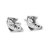 Запонки Bow Tie House с рыбками Vintage Antique Silver Fish 06489