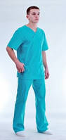 Медицинская мужская куртка Унисекс р. 50 (цвет бирюза)